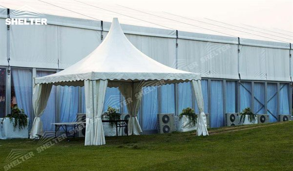SHELTER Pagoda Tent - Top Marquee - Chinese Hat Tents - Pinnacle Marquees -11