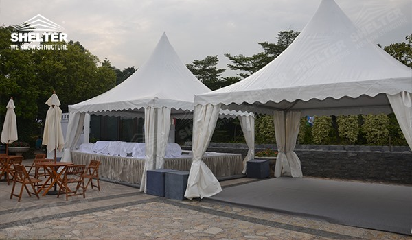 SHELTER Pagoda Tent - Top Marquee - Chinese Hat Tents - Pinnacle Marquees - (4)
