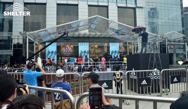 SHELTER Event Tent - Reception Canopy - Transparent Commercial Event Venue - Adidas Shop - 1
