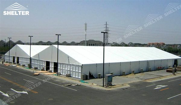 SHELTER Large Warehouse Tent - Temporary Storage Tents - Clear Span Building for Sale -18