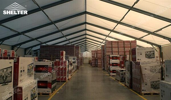 SHELTER Large Warehouse Tent - Temporary Storage Tents - Clear Span Building for Sale -26