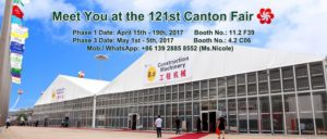 Shelter Tent is ready for the 121st Spring Canton Fair