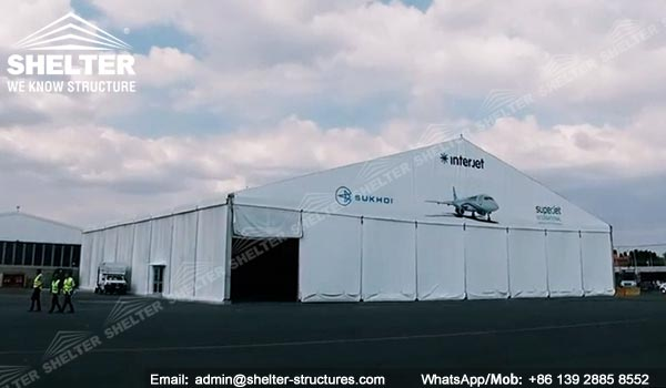 fabric aircraft hangar - 40x40x6.4 meters aviation hangar for aircraft manufacturing company - hangar structures for sale (6)