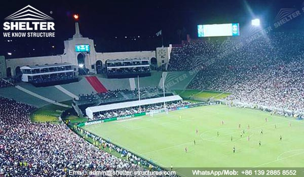 2-level-structures-Double-decker-tents-to-build-temporary-vip-suites-for-international-champions-cup-2017-at-Los-Angeles-Memorial-Coliseum-Shelter-Tent-4