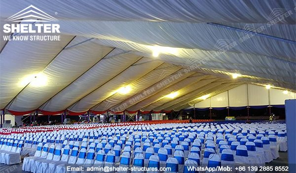 SHELTER Event Tent - Clearspan Fabric Structures - Commercial Marquee - Ceremony Tent 40x65m - Aluminum Clear Span Structures - Large Marquee for Sale (1)