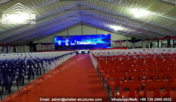SHELTER Event Tent - Clearspan Fabric Structures - Commercial Marquee - Ceremony Tent 40x65m - Aluminum Clear Span Structures - Large Marquee for Sale (3)