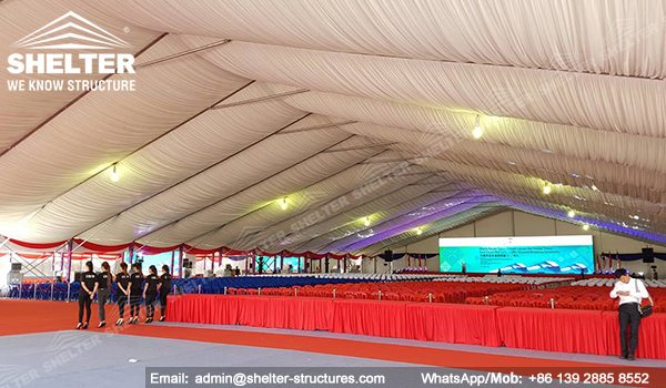 SHELTER Event Tent - Clearspan Fabric Structures - Commercial Marquee - Ceremony Tent 40x65m - Aluminum Clear Span Structures - Large Marquee for Sale (6)