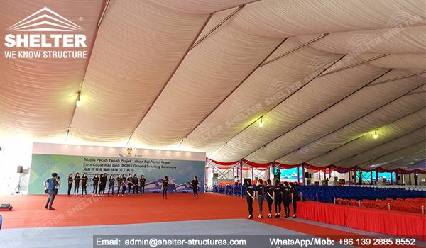 SHELTER Event Tent - Clearspan Fabric Structures - Commercial Marquee - Ceremony Tent 40x65m - Aluminum Clear Span Structures - Large Marquee for Sale (9)