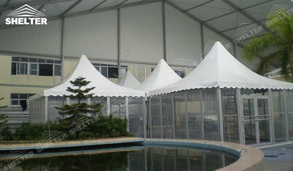 SHELTER Pagoda Tent - Top Marquee - Chinese Hat Tents - Pinnacle Marquees -19